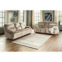 Ashley (Signature Design) Brayburn Reclining Living Room Group - Item Number: 77702 Living Room Group 1