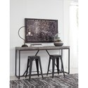 Signature Design by Ashley Brazin Console Table with White Waxed Gray Top