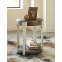 Signature Design by Ashley Brenzington Contemporary Round End Table