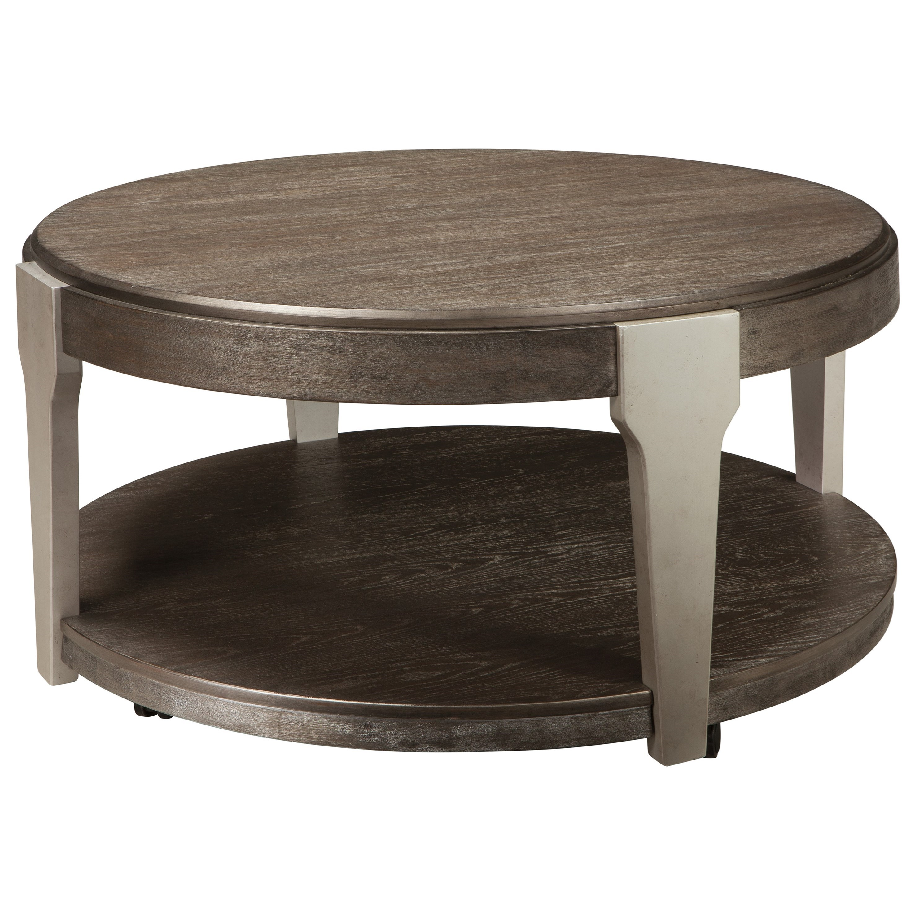 Signature Design by Ashley Brenzington Round Cocktail Table - Item Number: T453-8