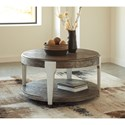 Signature Design by Ashley Brenzington Contemporary Round Cocktail Table