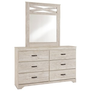 Signature Design by Ashley Briartown Dresser & Bedroom Mirror
