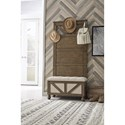 Signature Design by Ashley Brickwell Farmhouse Hall Tree with Storage Bench