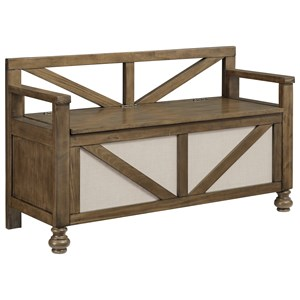 Farmhouse Storage Bench with Lift Seat