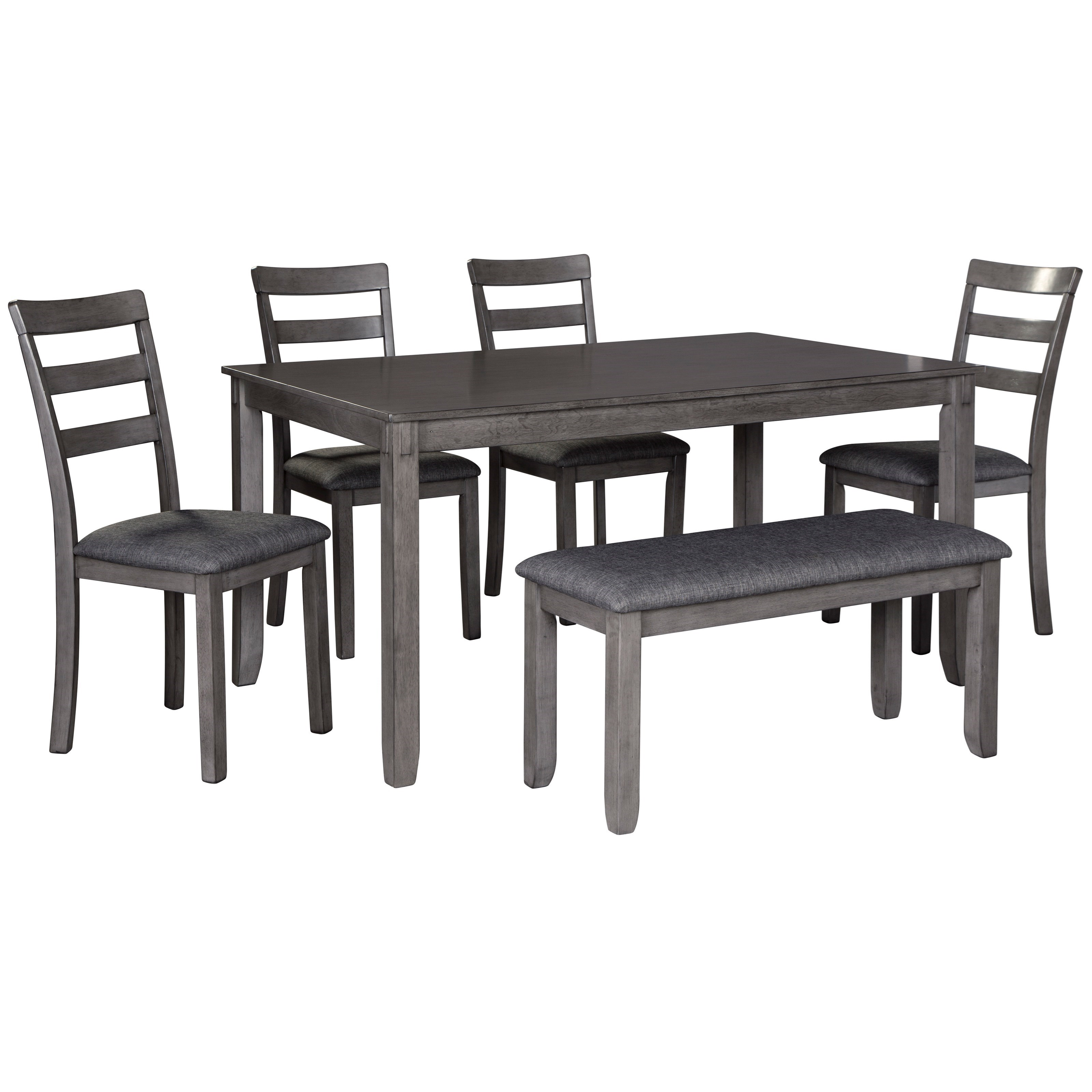 Bridson 6-Piece Rectangular Dining Room Table Set by Ashley (Signature Design) at Johnny Janosik