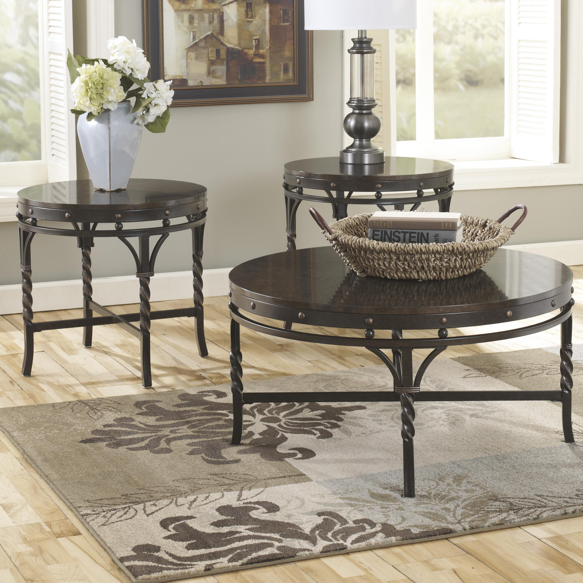 Signature Design by Ashley Brindleton Occasional Table Set - Item Number: T265-13