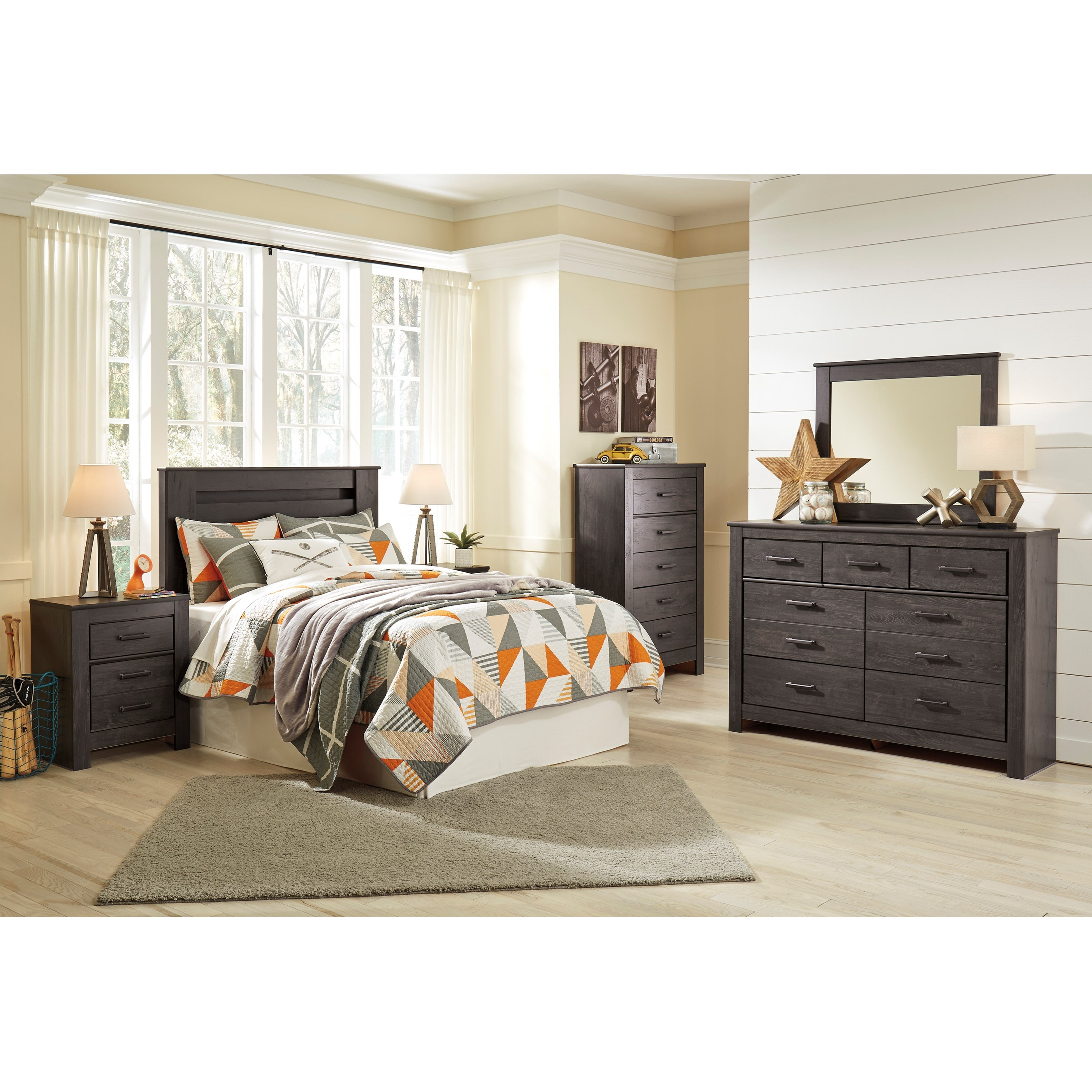 Signature design by ashley brinxton full bedroom group - Ashley furniture full bedroom sets ...