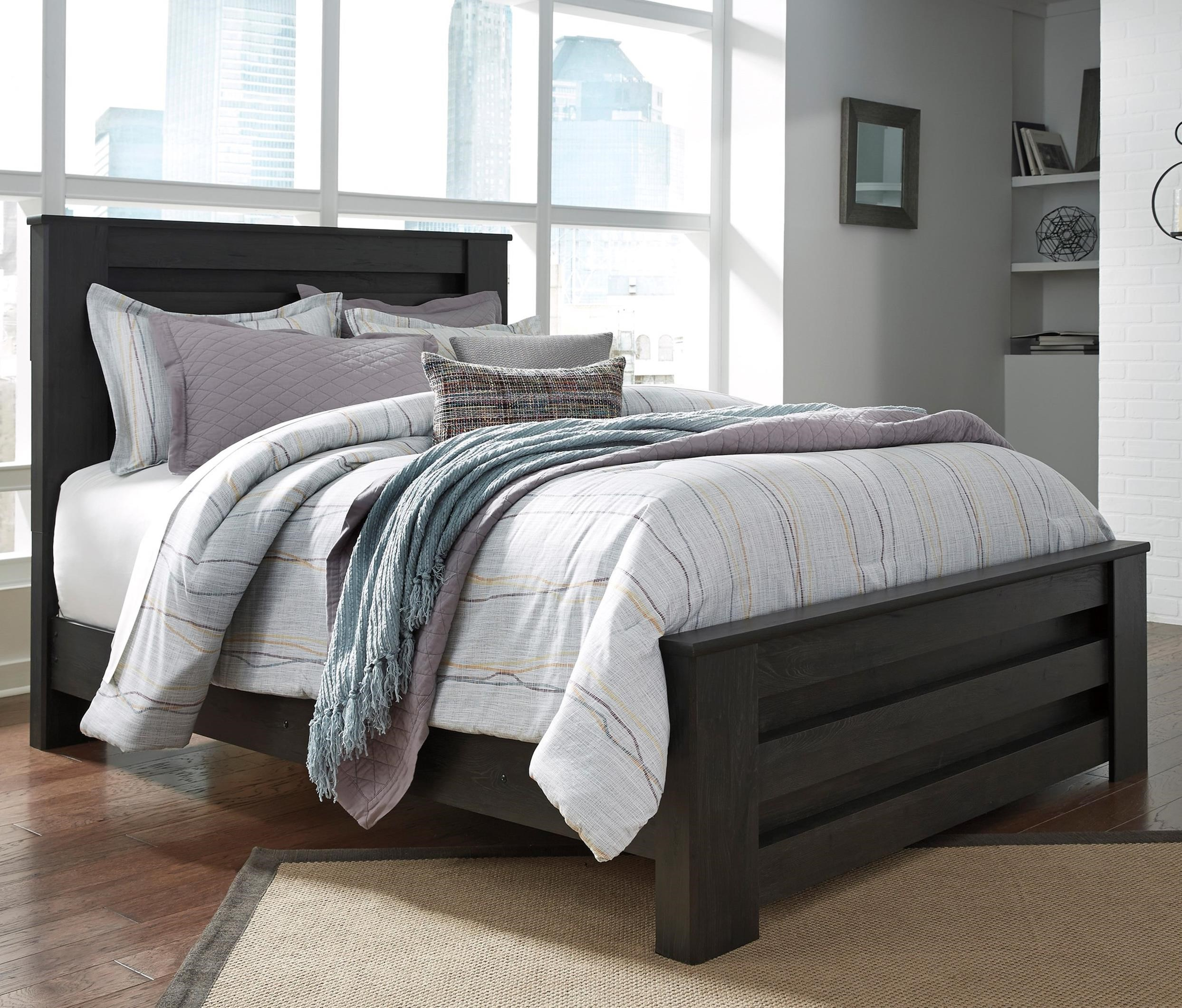 Brinxton Queen Panel Bed by Ashley (Signature Design) at Johnny Janosik