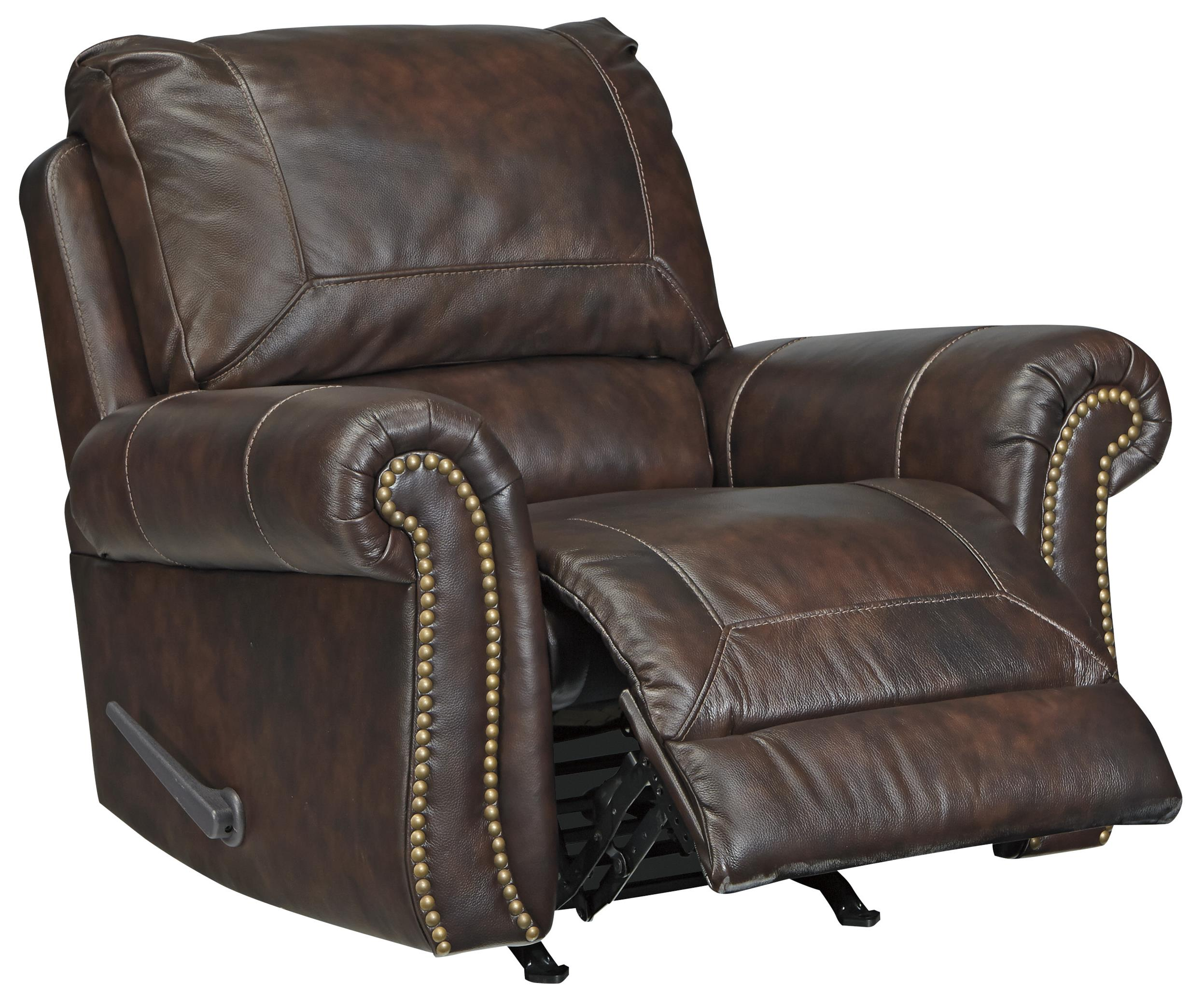 Bristan Traditional Leather Match Rocker Recliner With