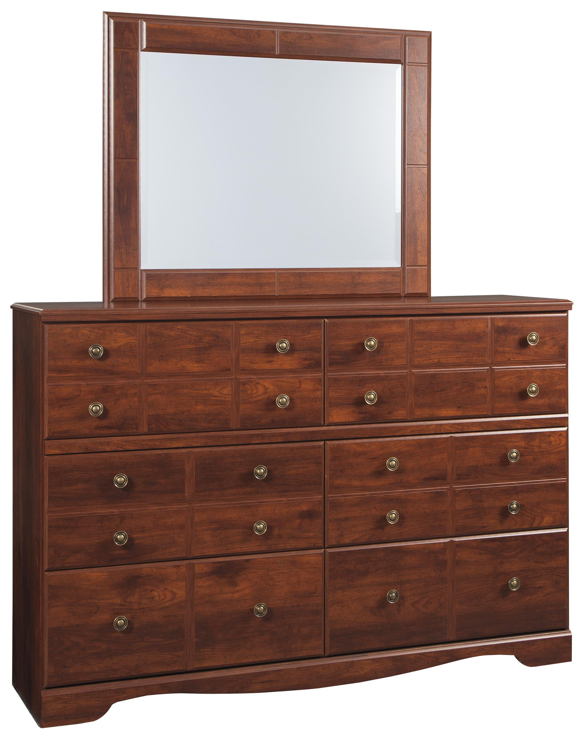 Signature Design by Ashley Brittberg Dresser & Mirror - Item Number: B265-31+36