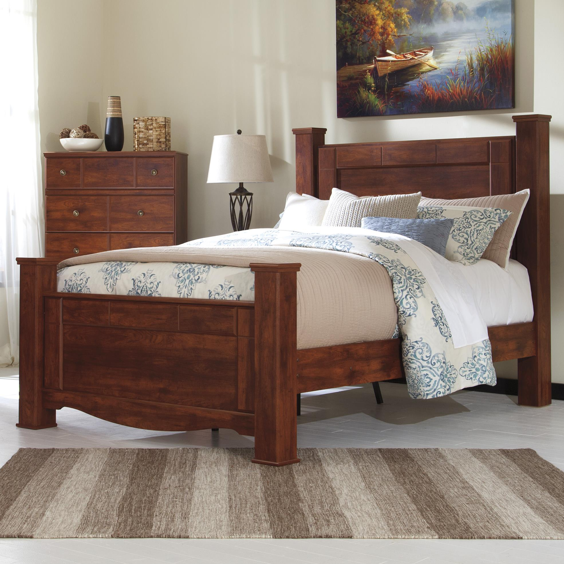 Signature Design by Ashley Brittberg Queen Poster Bed - Item Number: B265-67+64+61+98