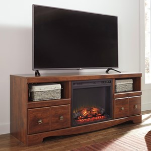 Signature Design by Ashley Brittberg Large TV Stand with Fireplace Insert