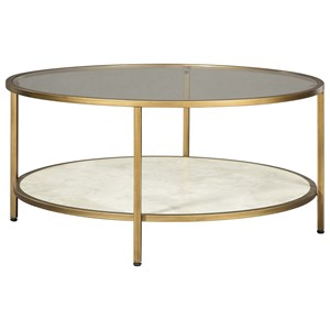 Signature Design by Ashley Britzwald Round Cocktail Table