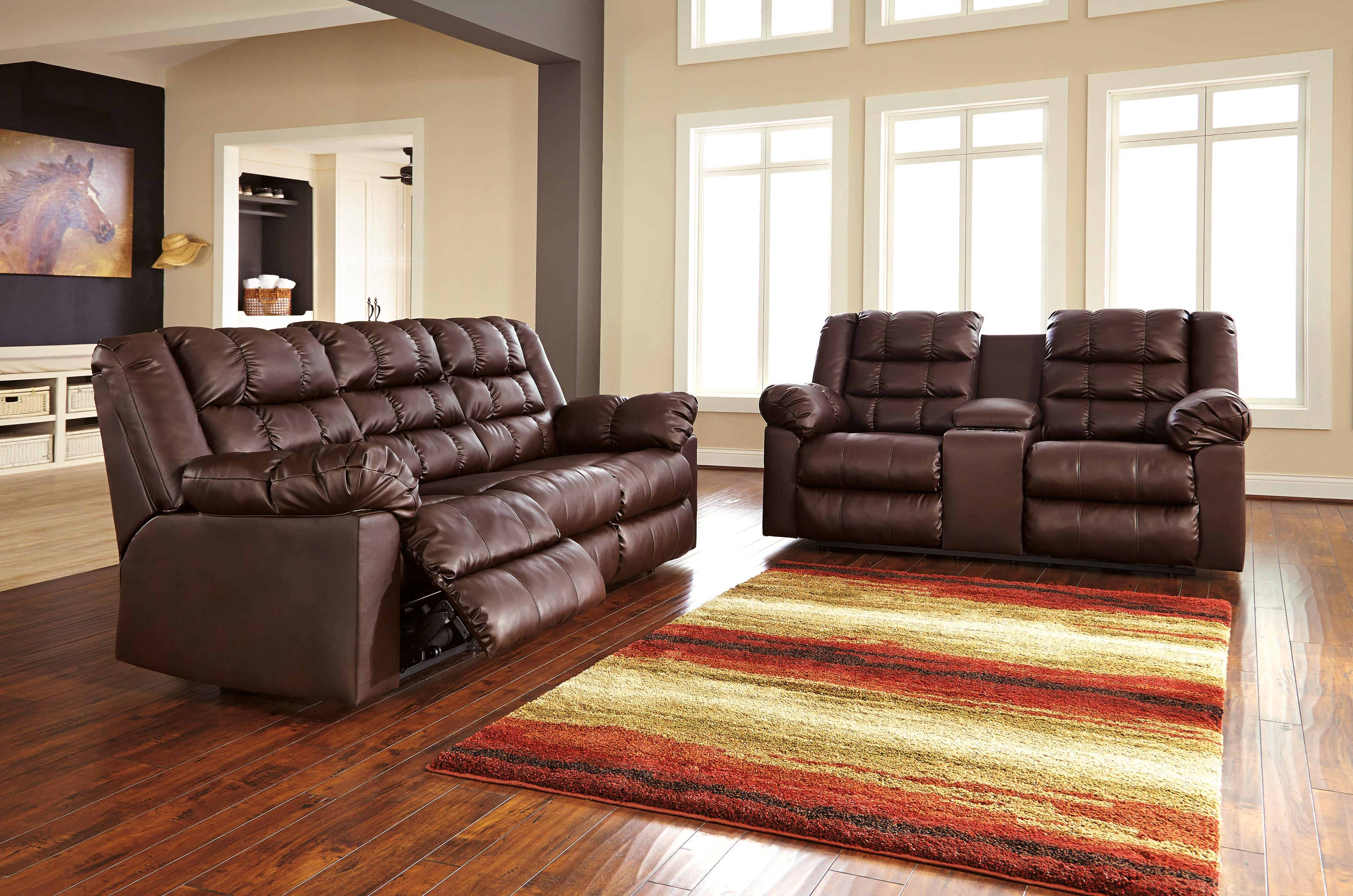 Signature Design by Ashley Brolayne DuraBlend® Reclining Living Room Group - Item Number: 83202 Living Room Group 1