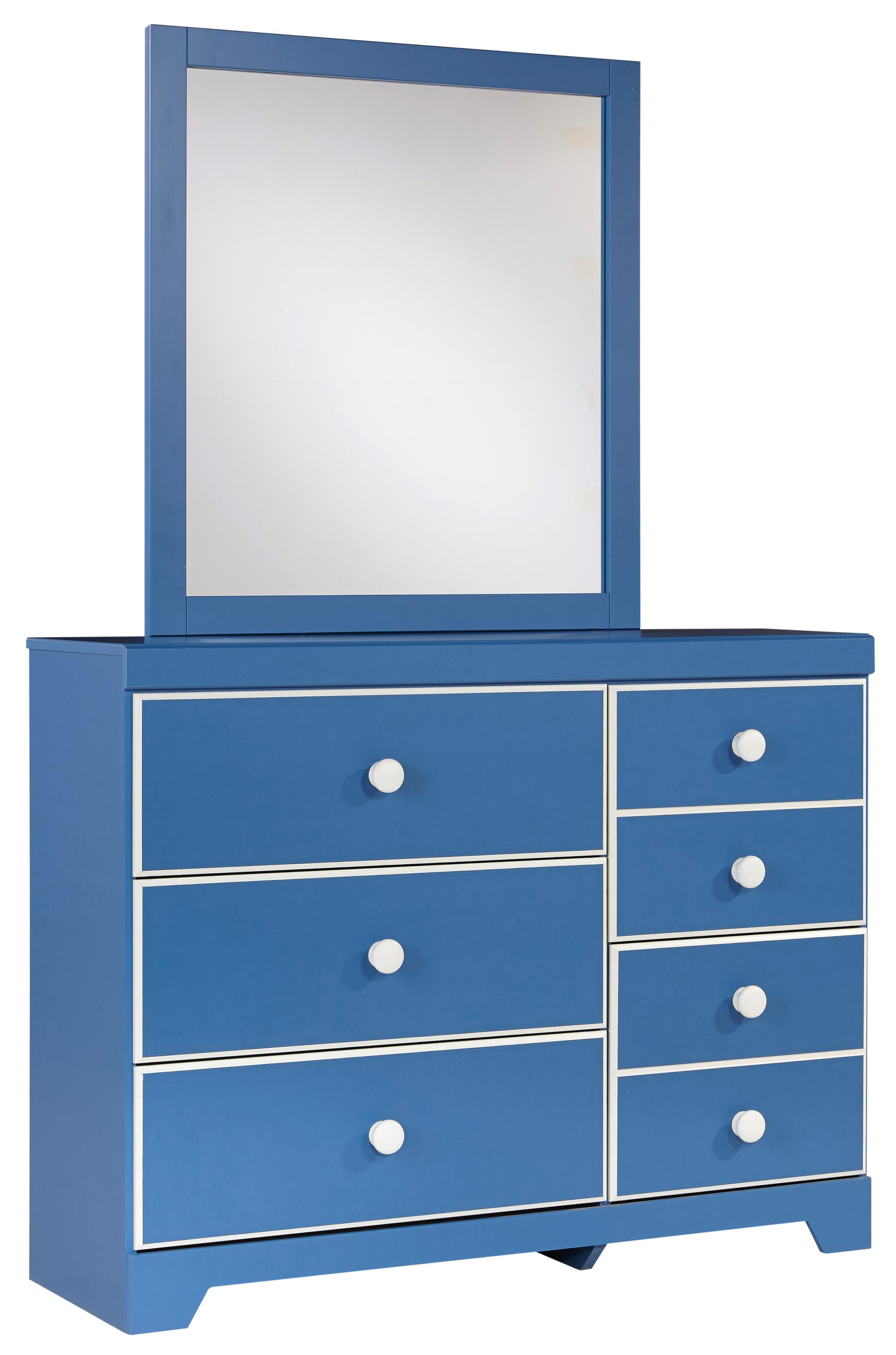 Signature Design by Ashley Bronilly Dresser & Bedroom Mirror - Item Number: B045-21+26