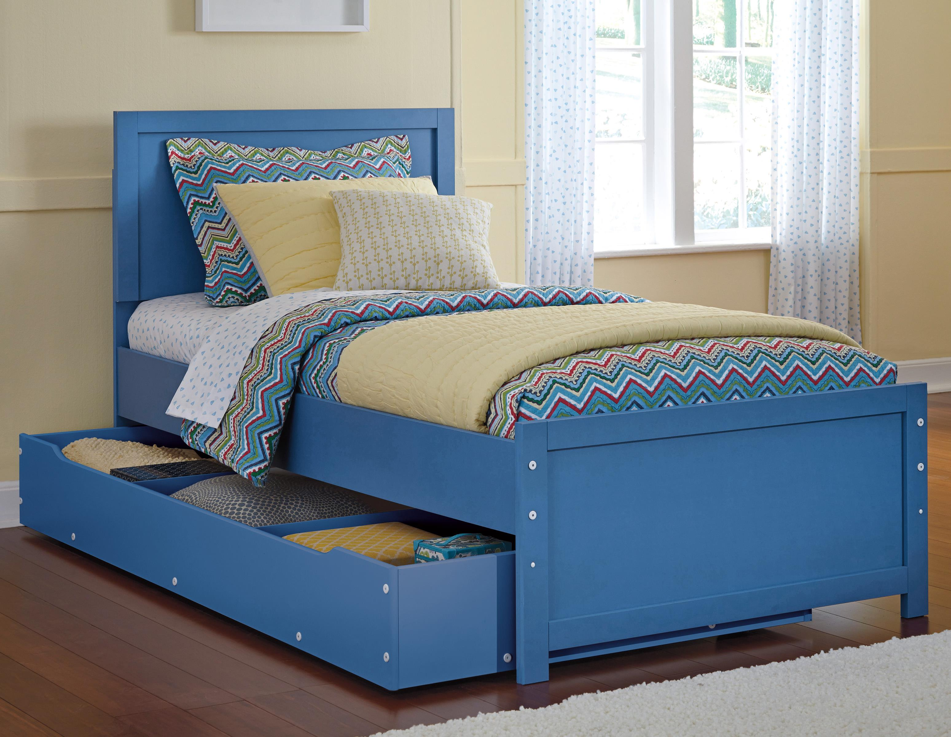Signature Design by Ashley Bronilly Twin Panel Bed w/ Trundle Under Bed Storage - Item Number: B045-53+52+82+60+B100-11