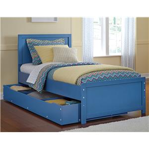 Signature Design by Ashley Bronilly Twin Panel Bed w/ Trundle Under Bed Storage