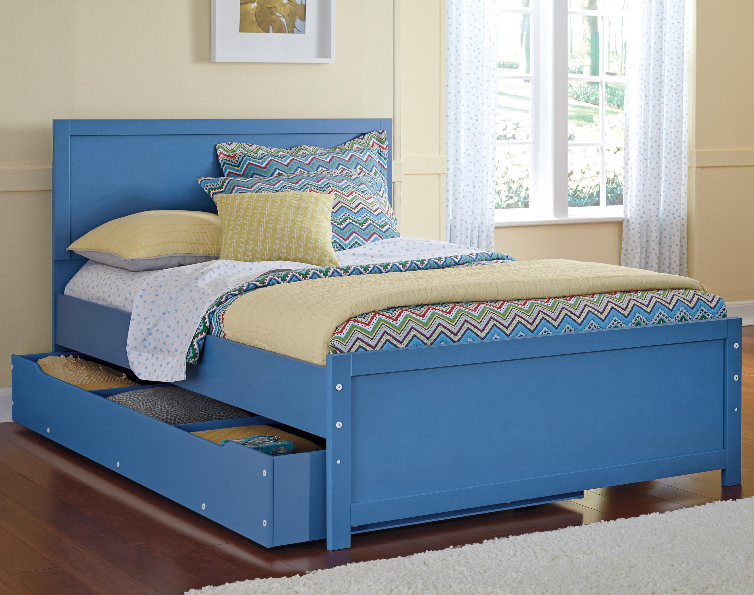 Signature Design by Ashley Bronilly Full Panel Bed w/ Under Bed Trundle Storage - Item Number: B045-87+84+86+60+B100-12
