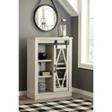 Signature Design by Ashley Bronfield Accent Cabinet with Glass Barn Door