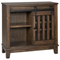 Signature Design by Ashley Brookport Rustic Accent Chest with Sliding Door