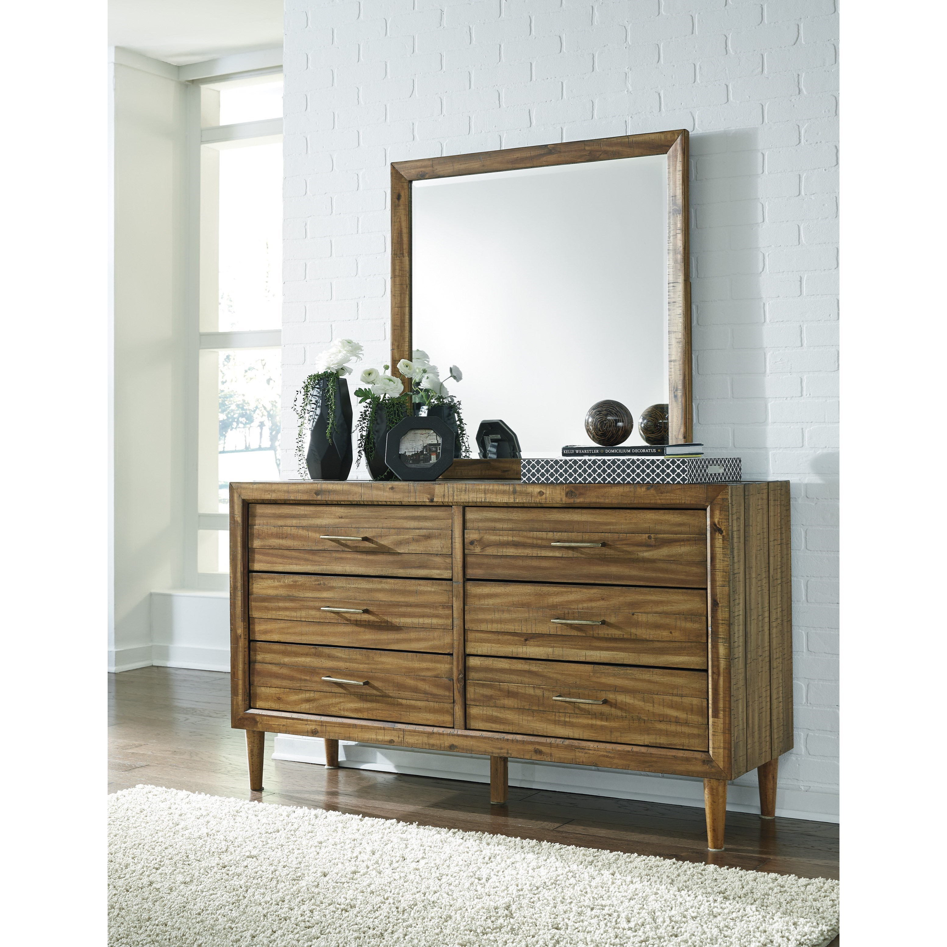 Ashley Furniture Broshtan Door And Drawer Chest: Signature Design By Ashley Broshtan 6 Drawer Dresser And