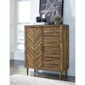 Signature Design by Ashley Broshtan Mid-Century Modern Door Chest with 4 Drawers