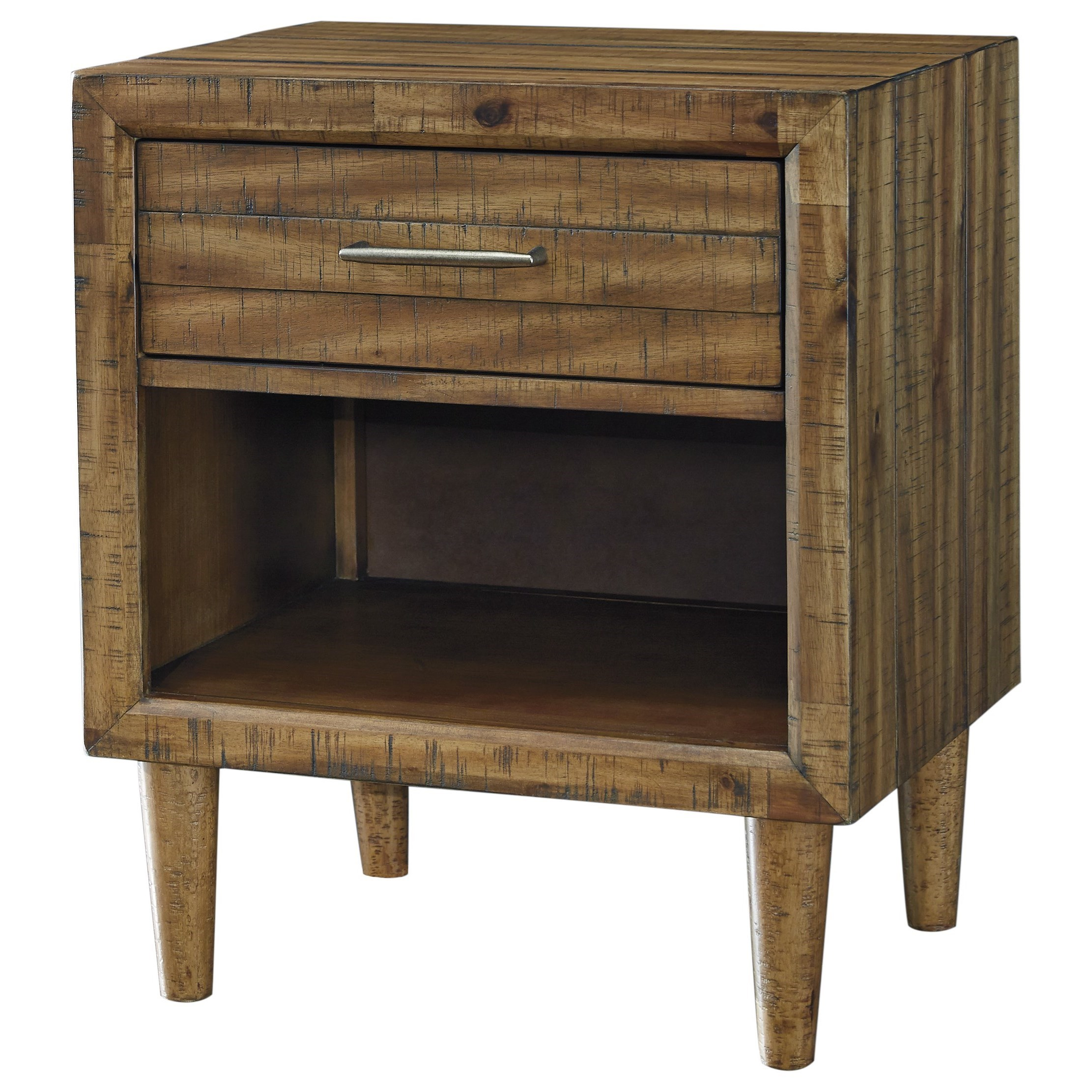 Signature Design by Ashley Broshtan One Drawer Nightstand - Item Number: B518-91