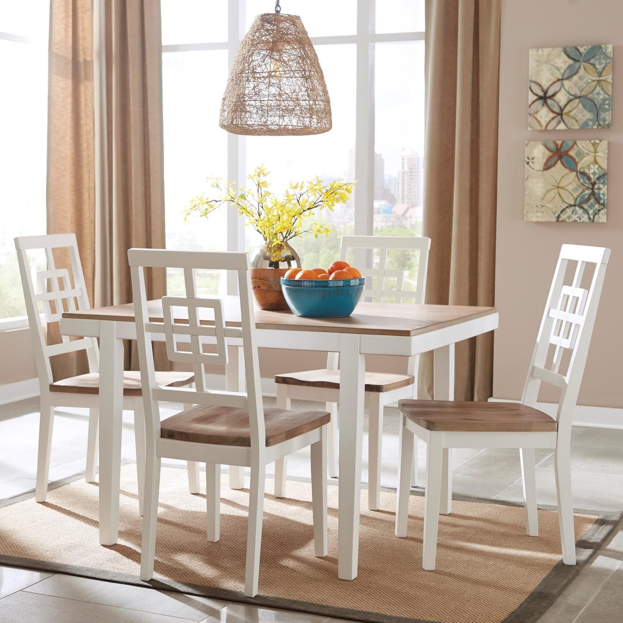 Ashley Furniture Dinette Set: Signature Design By Ashley Brovada Contemporary White