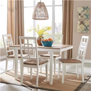 Signature Design by Ashley Brovada 5-Piece Rectangular Dining Table Set