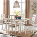 Signature Design by Ashley Brovada 5-Piece Rectangular Dining Table Set - Item Number: D298-225