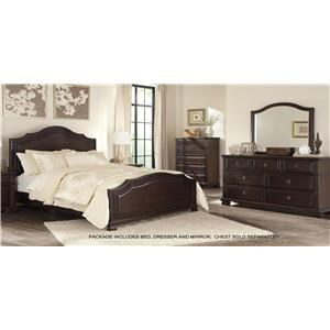 Signature Design by Ashley Brulind Queen Bed, Dresser and Mirror