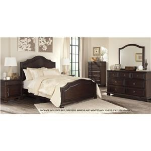 Signature Design by Ashley Brulind Queen Bed, Dresser, Mirror and Nightstand