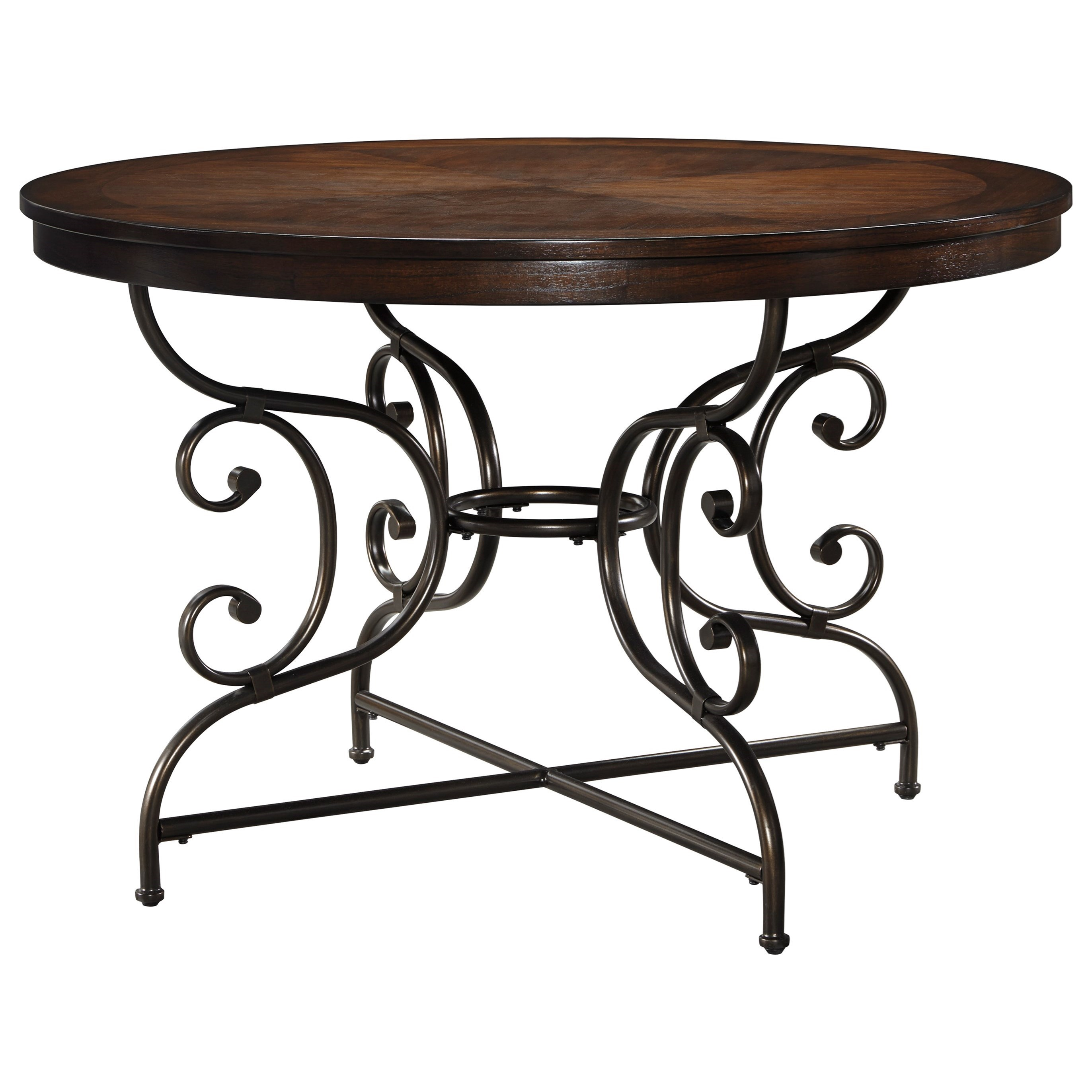 Signature Design by Ashley Brulind Round Dining Room Table - Item Number: D584-15