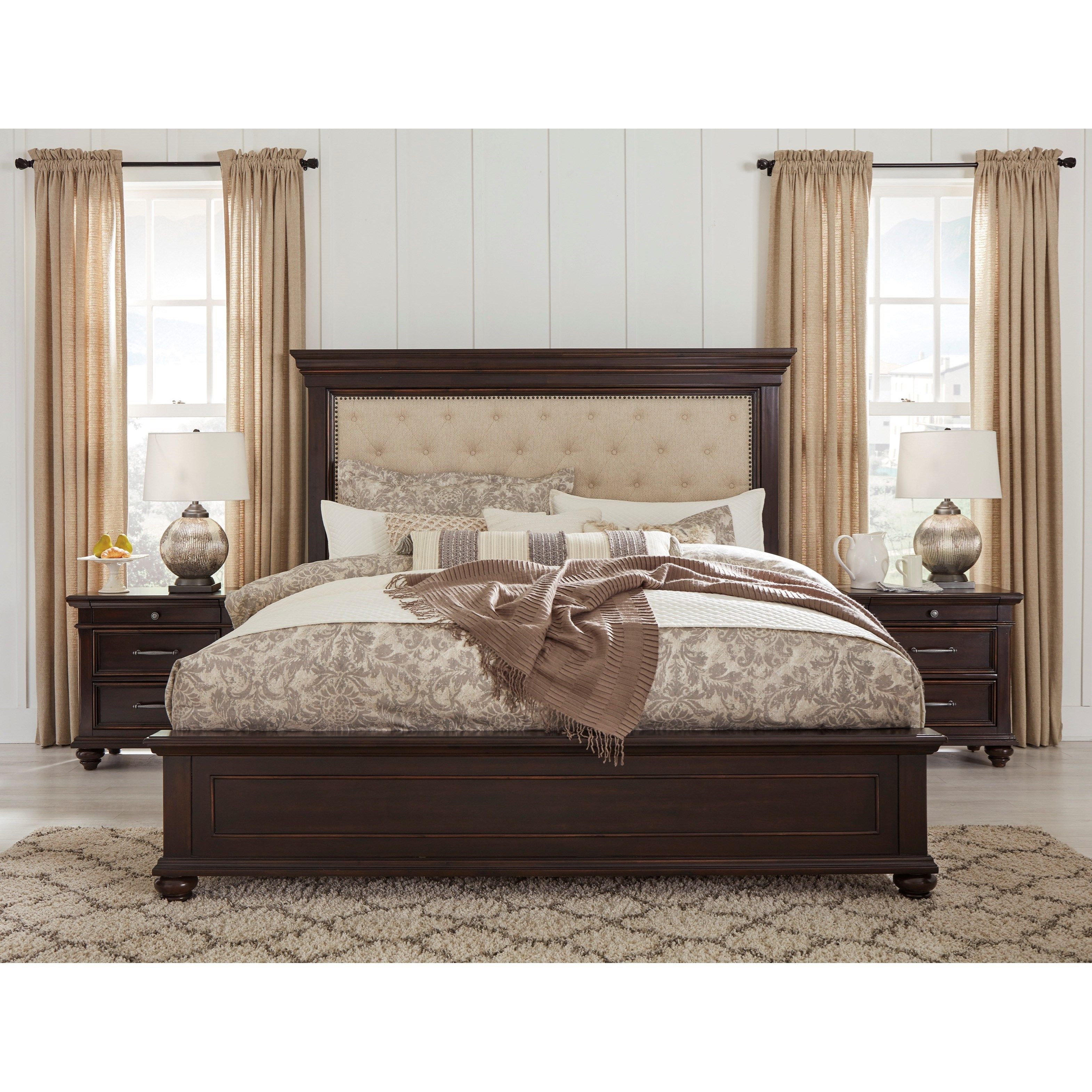 Signature Design By Ashley Willowton Queen Bedroom Group: Signature Design By Ashley Brynhurst Queen Bedroom Group
