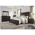 Signature Design by Ashley Brynhurst Queen 5 Piece Group - Item Number: B788 Queen 5 Pc Group