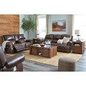 Signature Design by Ashley Buncrana Reclining Living Room Group - Item Number: U84604 Living Room Group 1
