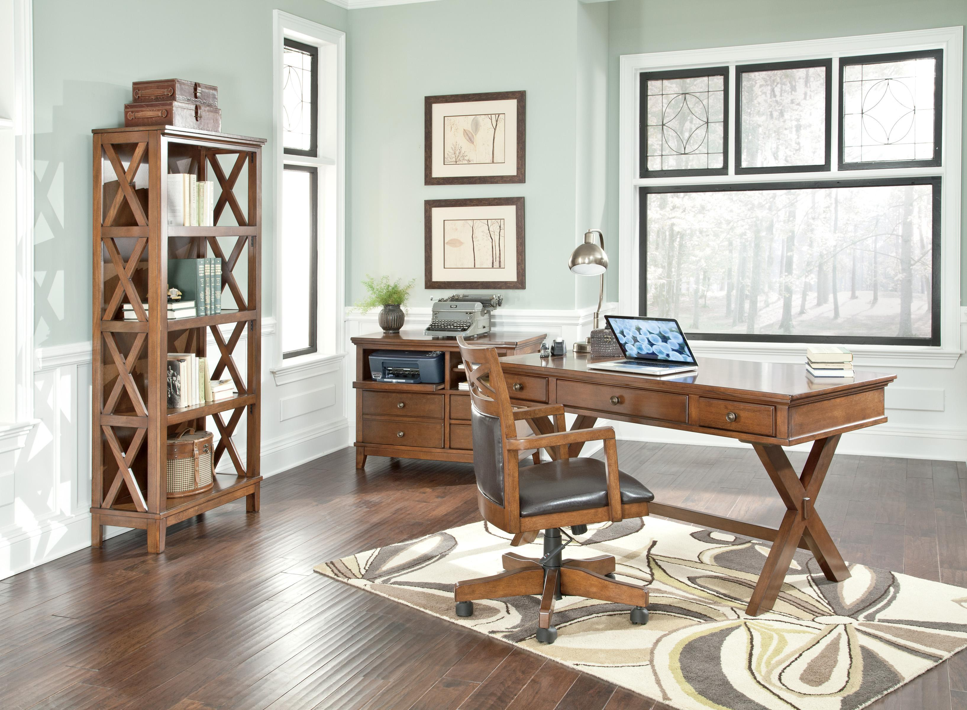 Signature Design by Ashley Burkesville 4 Piece Home Office Set - Item Number: BURKESVILLE4PC