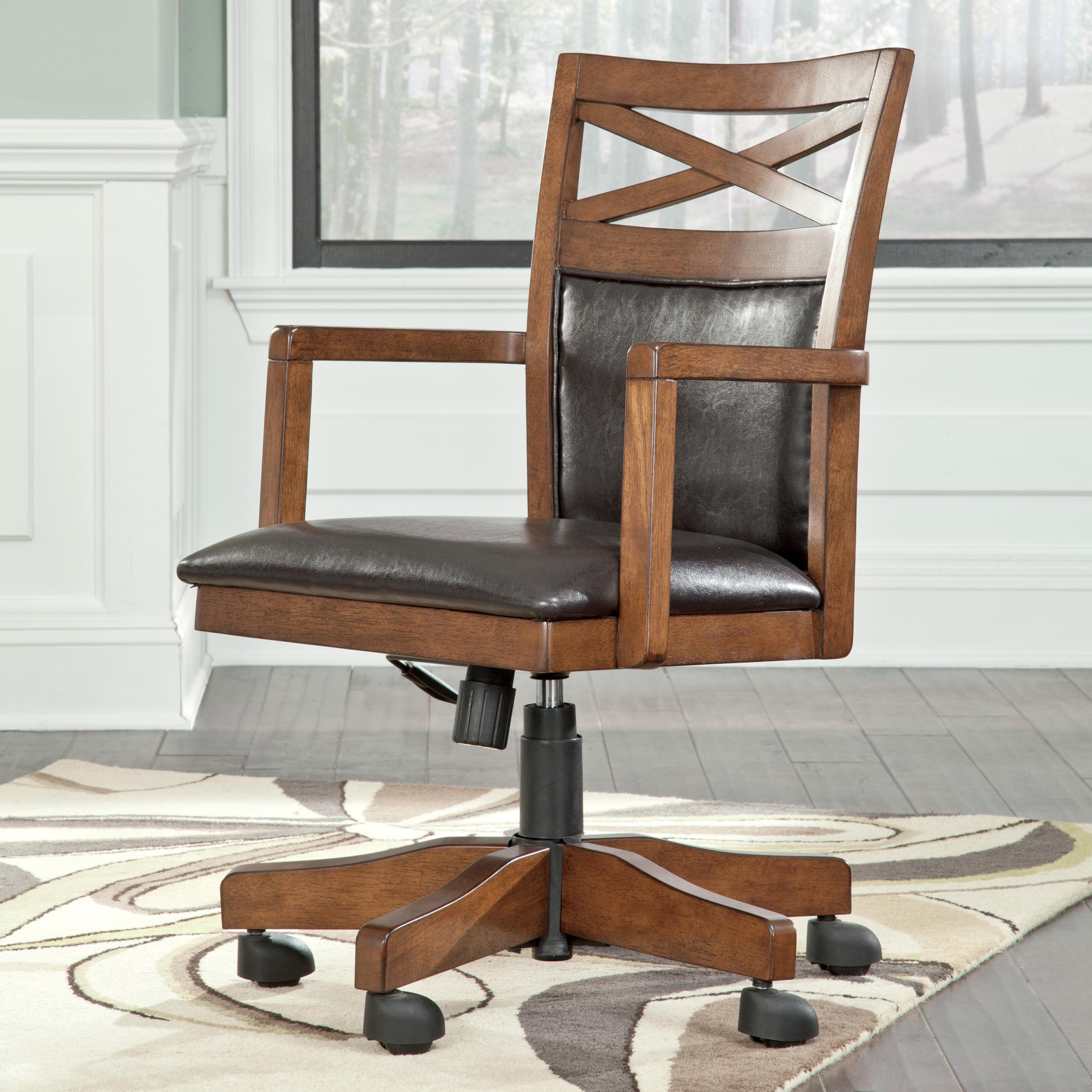 Signature Design by Ashley Burkesville Home Office Desk Chair - Item Number: H565-01A