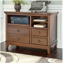 Signature Design by Ashley Burkesville Home Office Cabinet with Pull-Out Tray and Birch Veneer - H565-40