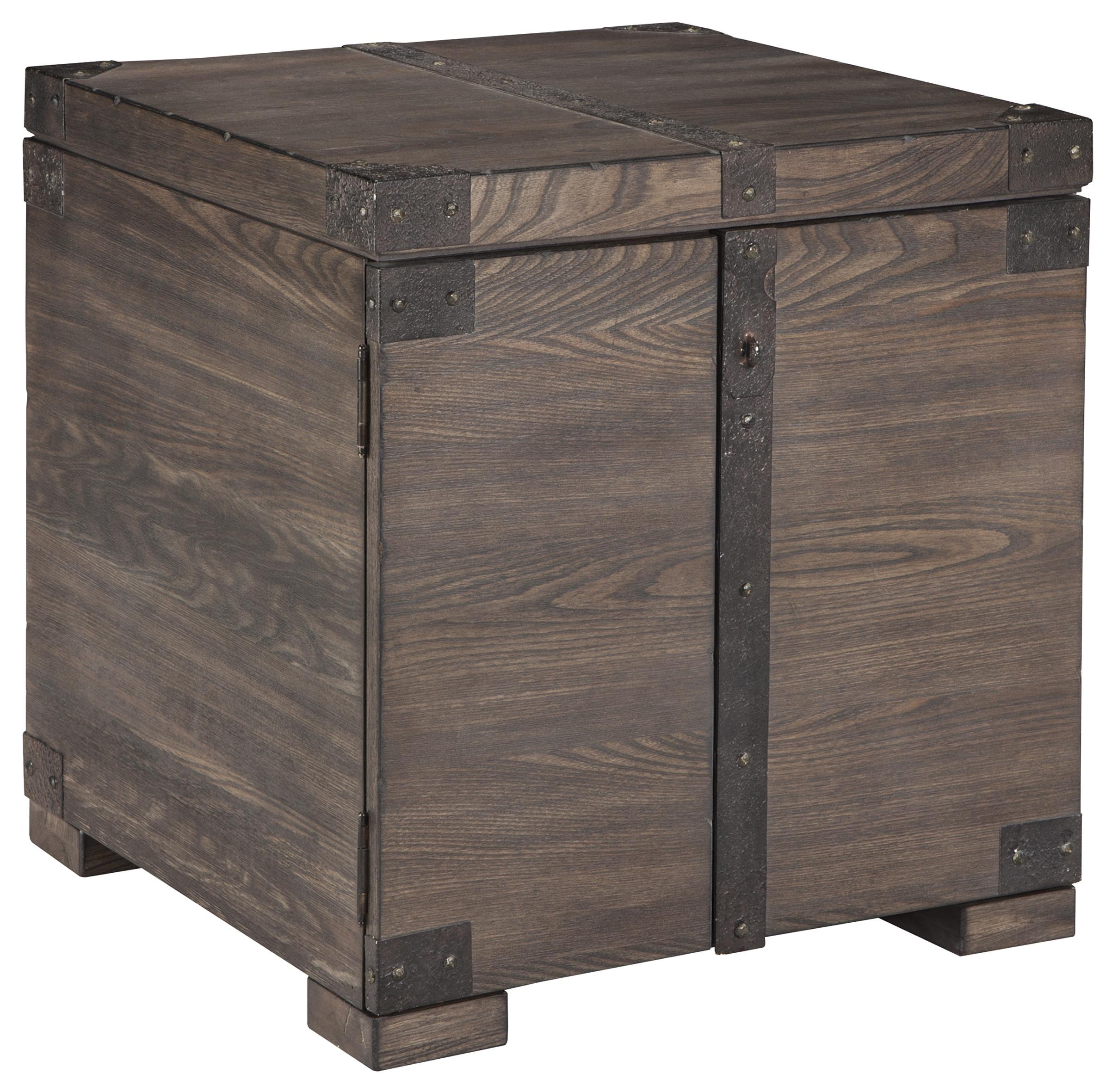 Signature Design by Ashley Burladen Square End Table - Item Number: T846-2