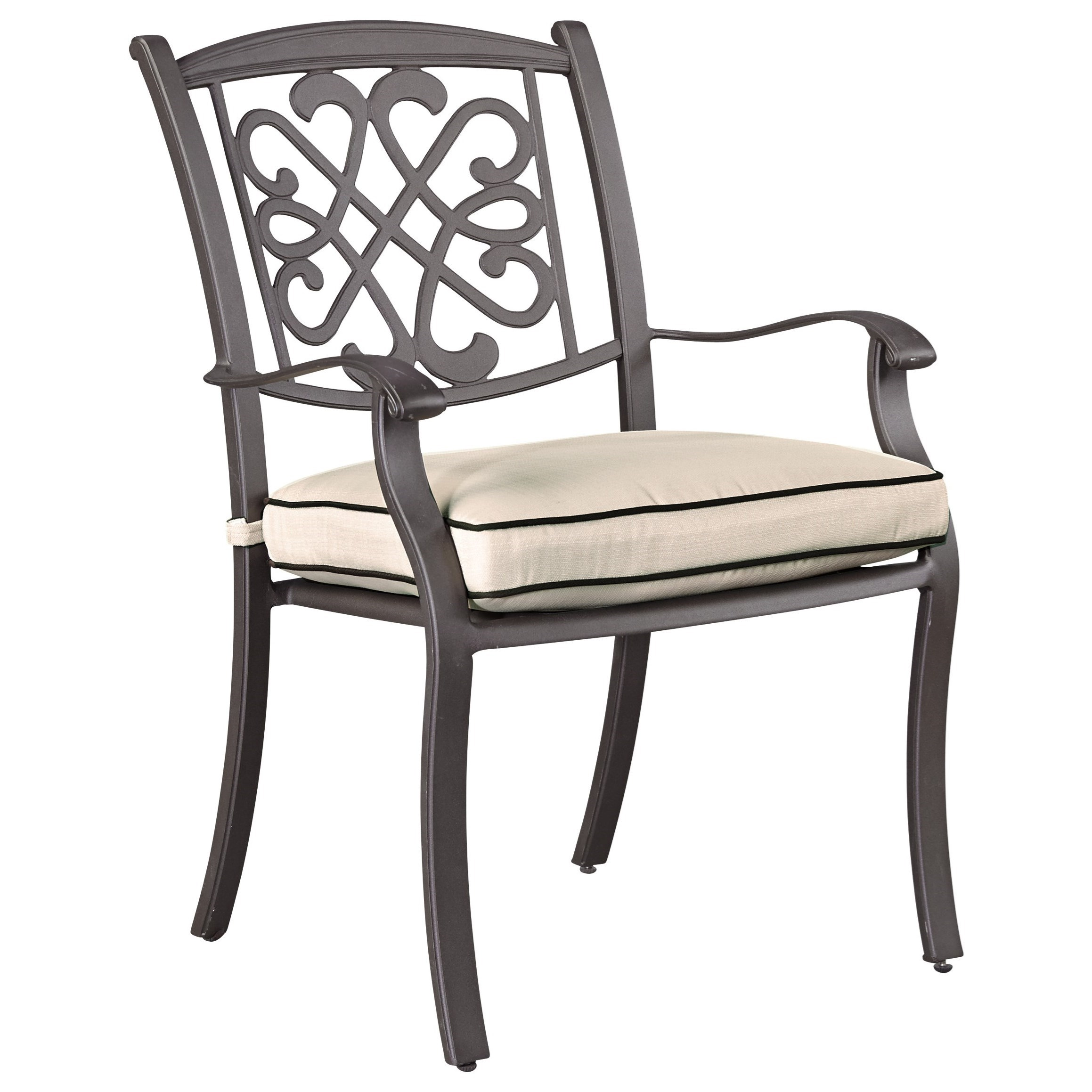 Signature Design by Ashley Burnella Set of 4 Outdoor Chairs with Cushion - Item Number: P456-601A
