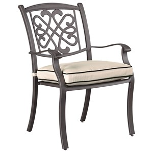Signature Design by Ashley Burnella Set of 4 Outdoor Chairs with Cushion