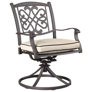 Signature Design by Ashley Burnella Outdoor Swivel Chair w/ Cushion