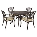 Signature Design by Ashley Burnella 5-Piece Outdoor Dining Set - Item Number: P456-615+601A