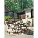 Signature Design by Ashley Burnella 5-Piece Outdoor Dining Set