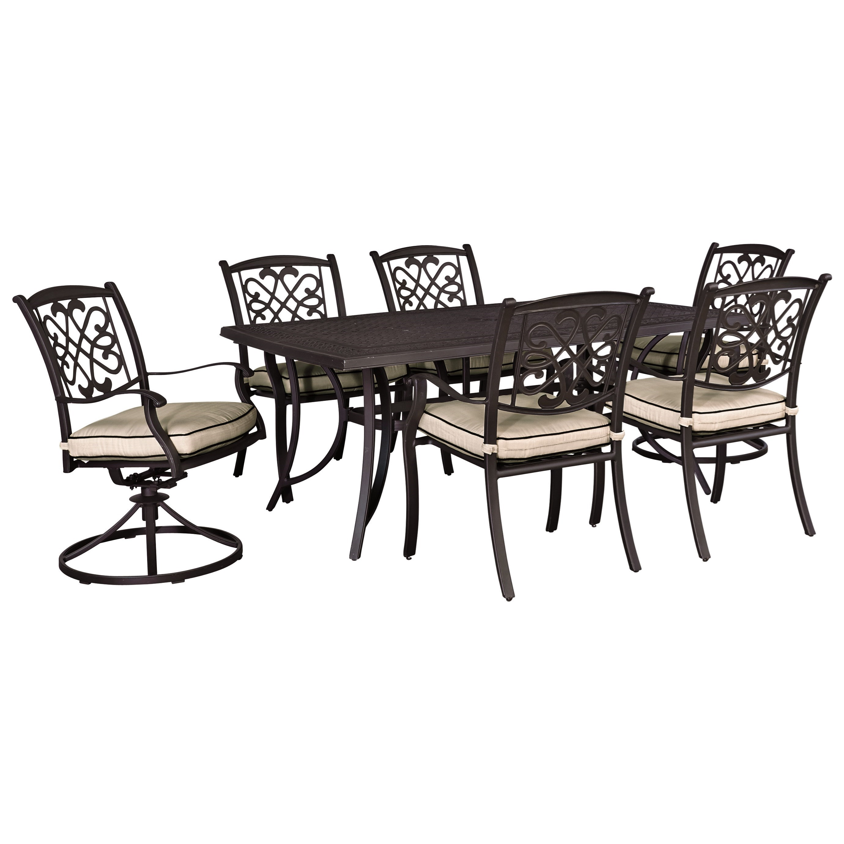 Signature Design by Ashley Burnella Outdoor Dining Set Household