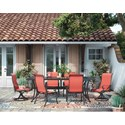 Signature Design by Ashley Burnella 7 Piece Outdoor Dining Set - Item Number: P456-645+P316-602A+2x601A