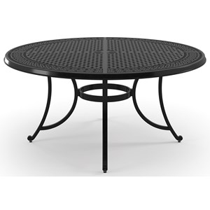 Signature Design by Ashley Burnella Large Round Dining Table w/ Umbrella Hole