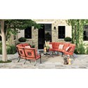 Signature Design by Ashley Burnella Outdoor Conversation Set - Item Number: P456-708+2x846+2x855+2x856