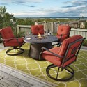 Signature Design by Ashley Burnella 5-Piece Outdoor Fire Pit Set - Item Number: P456-776B+776T+2x821